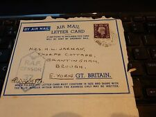 RAF WW2 DESERT CAMPAIGN LETTER X  F/O  GEOFFREY WRIGHT 1941 HELIOPOLIS EGYPT