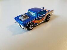 Vintage 1976 Hot Wheels Mattel '57 1957 Chevy Chevrolet diecast blue toy car htf