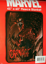 "Marvel Comics Carnage Spiderman 45"" x 60"" Soft Fleece Blanket New MIP"