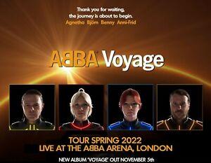 "ABBA VOYAGE 2022 Tour quad poster 30x40"" custom ad poster FREE P&P London"