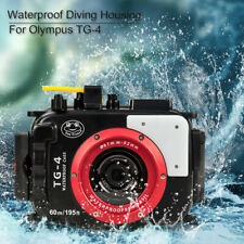 For Olympus TG4 Case 60M/195ft TG4 Underwater Diving Camera Housing Waterproof