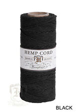 1MM Solid Polished Hemp Twine Hemptique Cord Macrame String 20lbs - 205ft Spool