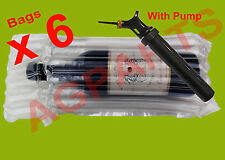 INFLATABLE AIR PACKAGING BUBBLE PACK WRAP BAG FOR WINE BOTTLE X 6 WITH PUMP