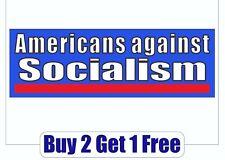 Americans Against Socialism Patriot Bernie Sanders Bumper Sticker - GoGoStickers