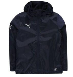 Puma Essentials Core Rain Jacket Boys Navy Size UK 32/34 *REF172