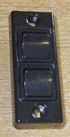 PDL architrave double light switch, Black, caravan type    32ASQ BLACK