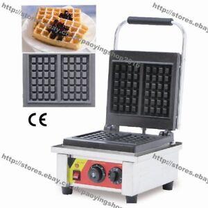 Commercial Nonstick Electric Cast Iron Belgian Waffle Maker Baker Machine Iron