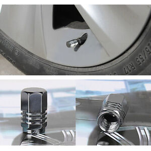 4pcs Aluminum Tire Wheel Rims Stem Air Valve Cap Tyre Cover For Car Truck Bike