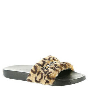 BEBE FURIOSALEOPARD FURIOSA Mn's (M) Leopard Faux-Fur/Synthetic Slide Sandals