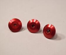 """5/16"""" Red Anodized Aluminum Backup Stringer Washer - Lot of 25 washers"""