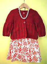 Crochet Pattern -Baby Girls Cardigan (4 sizes - 2-8 yrs) PO131