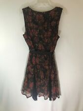 NEW Disney's - Junior COCO Lace Dress Brown/Green Fall Floral With Ribbon XL