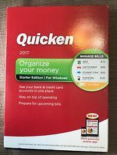 Quicken 2017 Starter Edition: Organize your Money - In Retail Box / Disc Windows