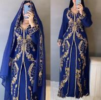 Moroccan Caftan Dubai Abaya Farasha Kaftan Jalabiya Islamic Jacket Abaya Gown MZ