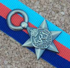 1939 - 1945 STAR MINIATURE REPRODUCTION OF THE ORIGINAL MEDAL WITH 15 CM RIBBON