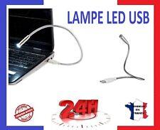 LAMPE USB LED FLEXIBLE COMPACTE PC portable / bureau / en acier inoxydable 👍