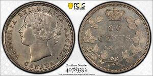1858 Canada 20 Cents - PCGS AU55 -