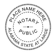 State of ALABAMA  | Custom Round Self-Inking Notary Public Stamp Ideal 400R