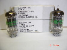 New Old Stock Pair GE 5687WB ( 7044 - 7119 ) Ham Radip Audio Amplifier Tube NIB