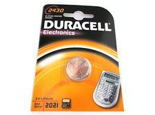 Pila Batteria Lithium A Bottone Duracell Litio 2430 DL2430 CR2430 K2430L 3V Per