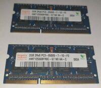 HYNIX 2x 2gb = 4GB RAM MEMORY DDR3 - 2Rx8 PC3-8500S-7-10-f2 hmt125s6bfr8c-g7-n0
