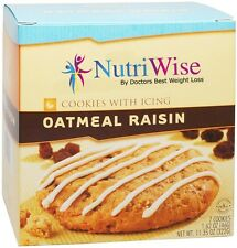 NUTRWISE | Oatmeal Raisin With Icing Cookie | High Protein, Low Fat, 7/Box