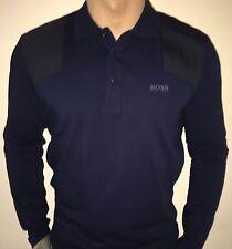 Hugo Boss Long Sleeve Polo Top tshirt BNWT Navy Blue size XL *Green Label*