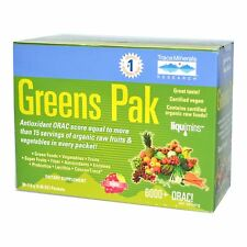 Trace Minerals Research Vegan Organic GREENS PAK - 30 Packets BERRY