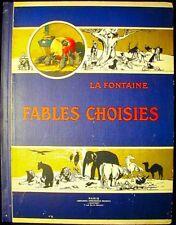 Fables Choisies de La Fontaine c, 1900 28 full color illustrations noted artists