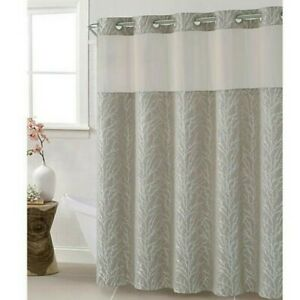 Hookless Jacquard Tree Branch 54-Inch x 80-Inch Stall Shower Curtain in Taupe