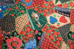 "1+ Yard Christmas Quilted  Fabric 40"" X  44"""