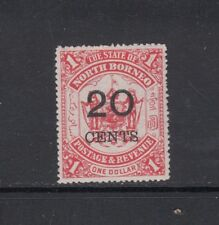 NORTH BORNEO: 1895 Surcharges on $1 Scarlet Arms, 20¢ SG 89 £55 MLH.
