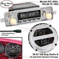 RetroSound LAGUNA-C Radio & Dash Speaker D-62 Combo Package 58-67 VW Beetle/Bug