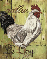 Shabby Rooster Cafe Coffee Pink Brown Cupcake French Kitchen Cupcake Signs