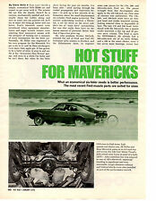 1970 FORD MAVERICK / FORD MUSCLE PARTS  ~ ORIGINAL 3-PAGE ARTICLE / AD
