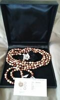 gems TV freshwater cultured pearl silver necklace, bracelets, earrings set