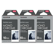 30 Prints Fujifilm Instax mini Monochrome B&W Instant Film for 9 8 70 25 SP-2