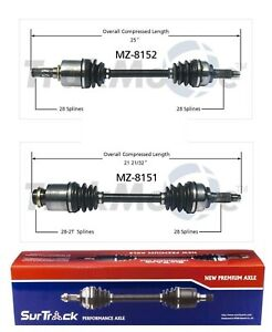 Front D//S And P//S CV Axle Shaft For Mazda 3 10-13 Automatic Transmission