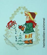 PLAUENER SPITZE ® Fensterbild SCHNEEMANN Fensterbilder WINTER Weihnachten KIND