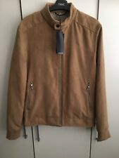 MARKS & SPENCER LIMITED EDITION MENS TAN SUEDE LOOK JACKET, Size S, Bnwt