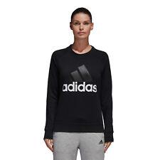 Adidas Ess Lin Sweat Felpa Donna Nera L Nero
