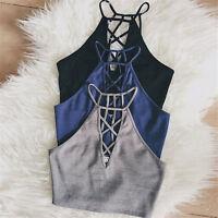 Hot Fashion Women Casual Tank Tops Summer Vest Blouse Sleeveless Crop Tops Shirt