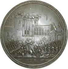 O5886 UNIQUE !! Uniface Siège Bastille Louis XVI Révolution 1789 Desnoyers SUP