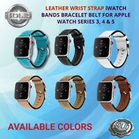 Genuine Leather Watch Strap Bracelet Wrist Band For Apple Watch 5/4/3/2 38-44mm