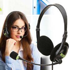 USB Stereo Headset Kopfhörer Telefon Kopfhörer mit Mikrofon für Computer Laptop*