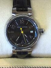 Louis Vuitton Tambour Watch Women's Adjustable Leather Band - Classic Timepiece