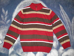 "GYMBOREE ""Empire State Express"" Striped Zip Sweater Size M(7-8)"