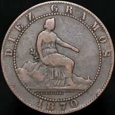 More details for 1870   spain 10 centimos   copper   coins   km coins
