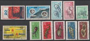 DDR 1963: schönes Lot aus Mi-Nr 970 bis 982 gestempelt