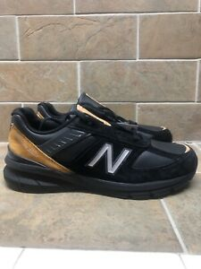 New Balance 990v5 Rare Not Released Made in USA Size 12 Black Leather M990BB15